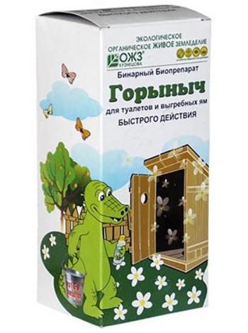 Билпрепарат быстрого действия для туалетов и выгребных Горыныч, Флакон 500 мл.+ 3 пакета по 30 гр.