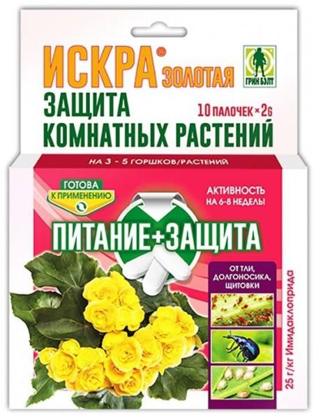 Искра Золотая палочки для защиты комнатных растений, 10 шт.