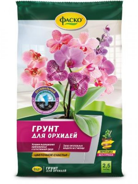 Грунт для орхидей ФАСКО Цветочное счастье 1 л.
