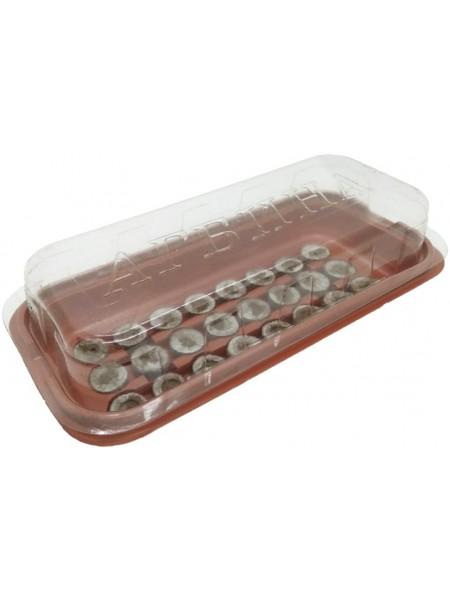 Минитеплица с 24 торфяными таблетками 36мм