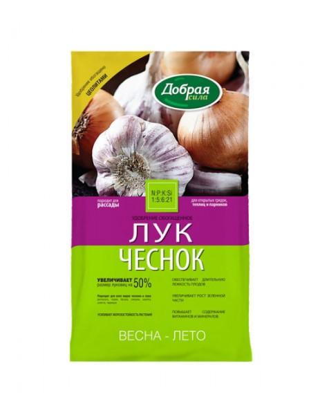 Добрая сила удобрение открытого грунта Лук-Чеснок, пакет 0,9кг